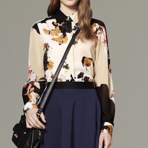 b3e14123f15f1 3.1 Phillip Lim for Target Tops - Philip Lim x Target Floral Button Down  Blouse